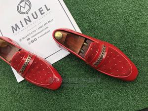 Red Shinning Loafers With Stone | Shoes for sale in Lagos State, Mushin