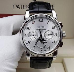High Quality Patek Philippe Black Leather Watch for Men   Watches for sale in Lagos State, Magodo