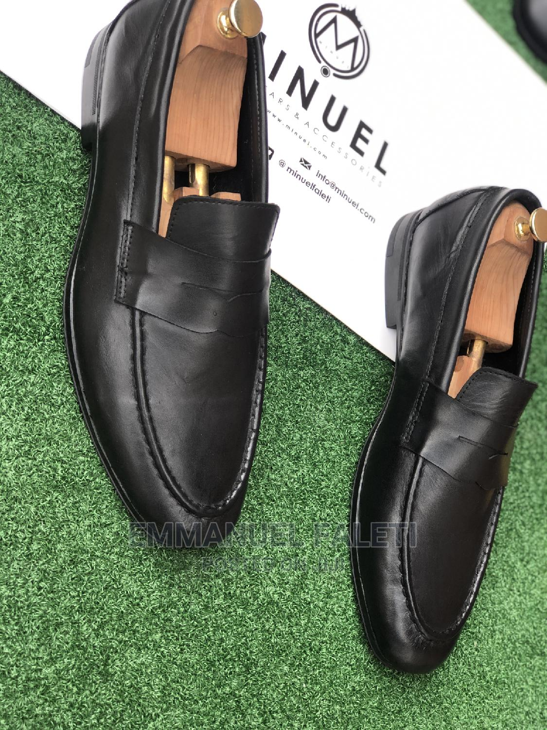 Black Mature Penny Loafers | Shoes for sale in Mushin, Lagos State, Nigeria