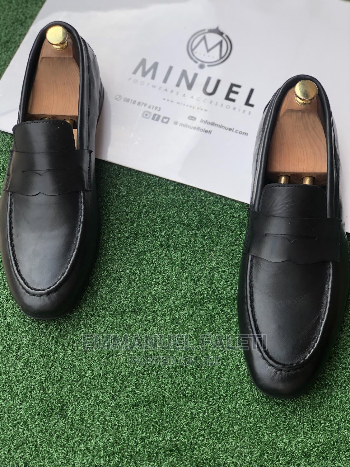 Black Mature Penny Loafers