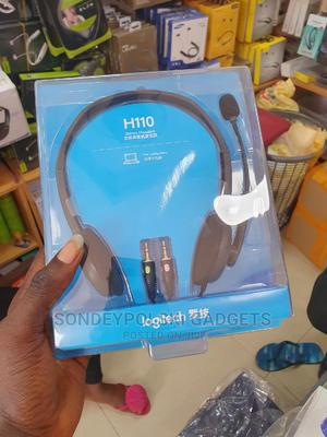 Logitech Stereo Headset H110 Noise Cancelling Microphone | Headphones for sale in Lagos State, Ikeja