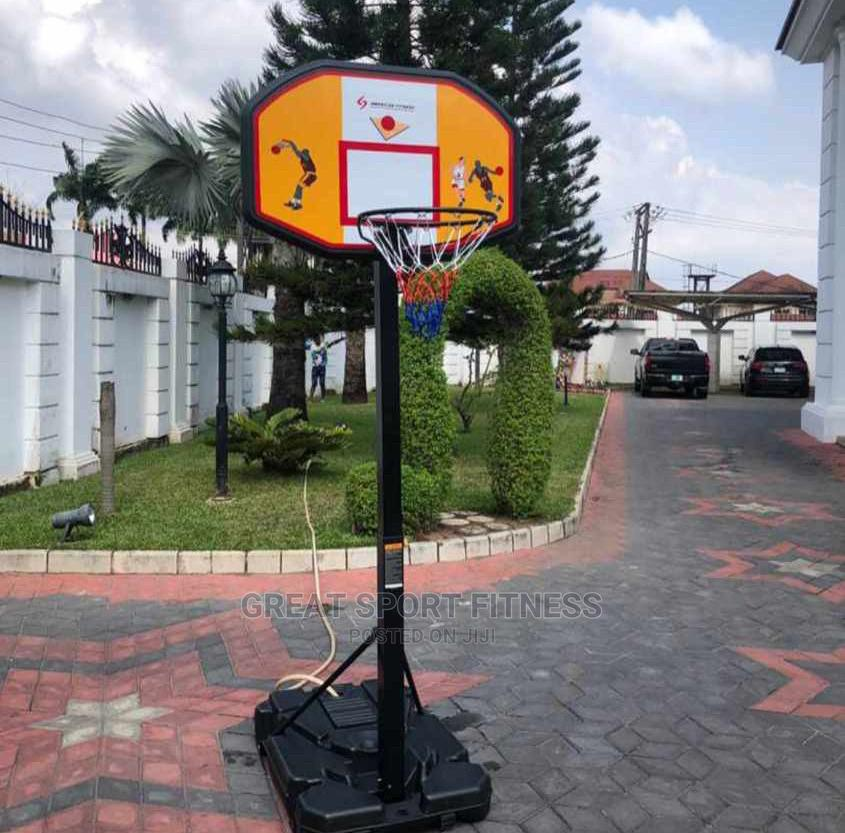 Archive: Basketball Stand With Rim and Net