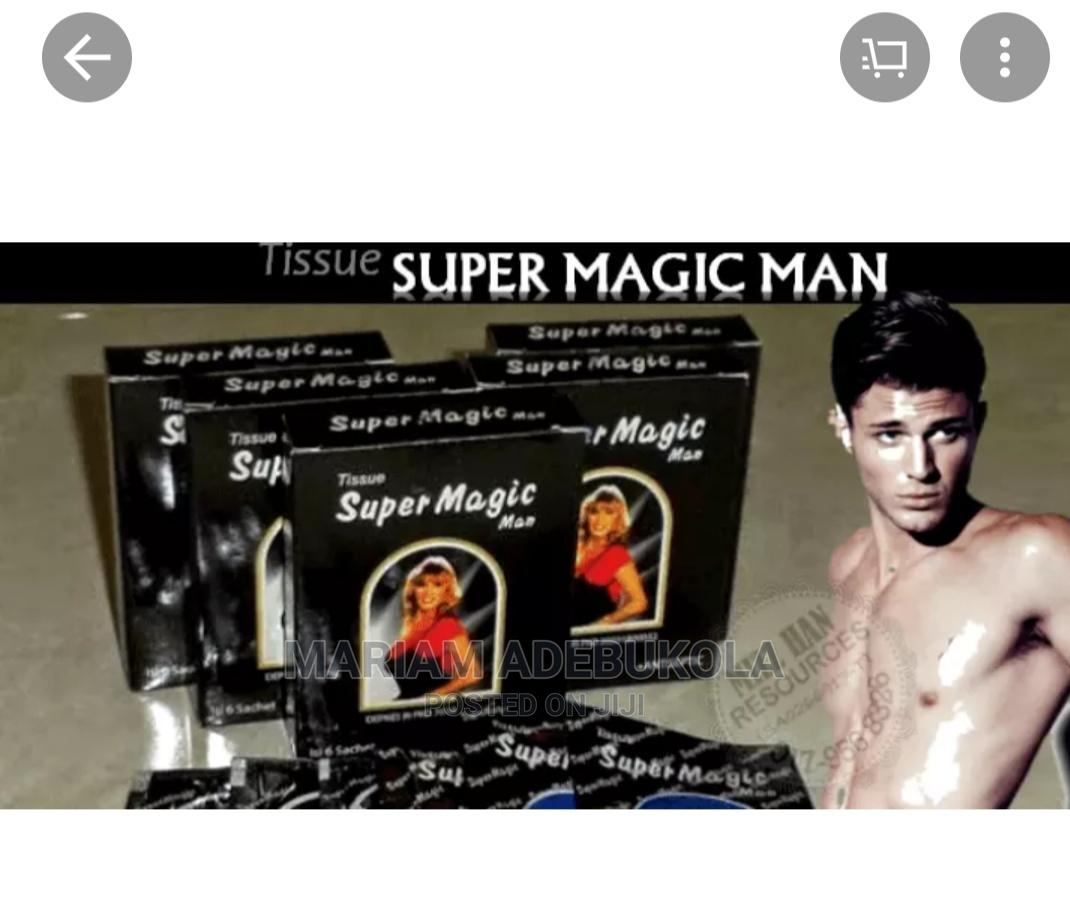 Super Magic Man Long Lasting/Delay Ejaculation Tissue.   Sexual Wellness for sale in Mushin, Lagos State, Nigeria