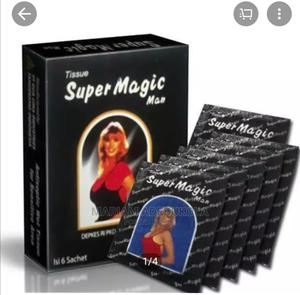 Super Magic Man Long Lasting/Delay Ejaculation Tissue.   Sexual Wellness for sale in Lagos State, Mushin