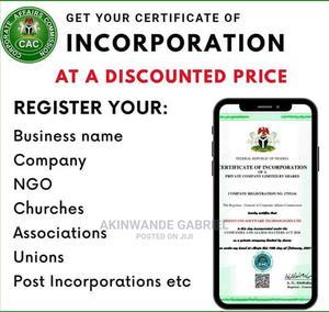 Professional Cac Certificate Processing | Legal Services for sale in Ogun State, Ado-Odo/Ota