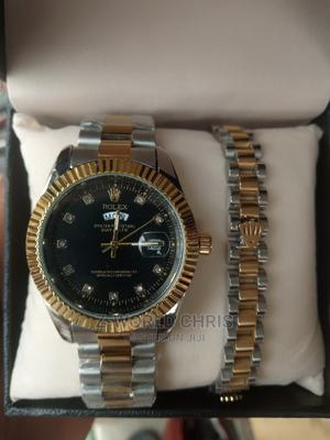 Rolex Silver Gold Wristwatch and Bracelets | Watches for sale in Lagos State, Surulere