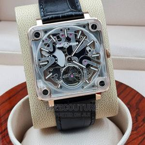 High Quality Bell Ross Black Leather Watch for Men   Watches for sale in Lagos State, Magodo