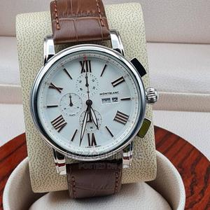 High Quality Montblanc Brown Leather Watch for Men   Watches for sale in Lagos State, Magodo