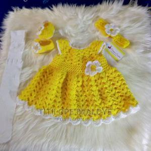 Crochet Newborn Baby Dress Set | Children's Clothing for sale in Lagos State, Ikeja