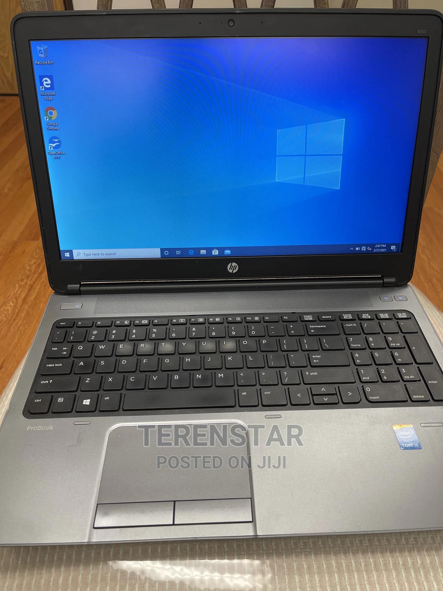 Laptop HP 650 G1 8GB Intel Core I5 HDD 500GB | Laptops & Computers for sale in Enugu, Enugu State, Nigeria