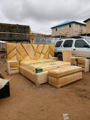 6x6 Bed Frame With Study Chair and Table | Furniture for sale in Lagos State, Ojo