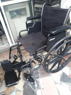 Manual Foldable Wheelchair | Medical Supplies & Equipment for sale in Lagos State, Mushin