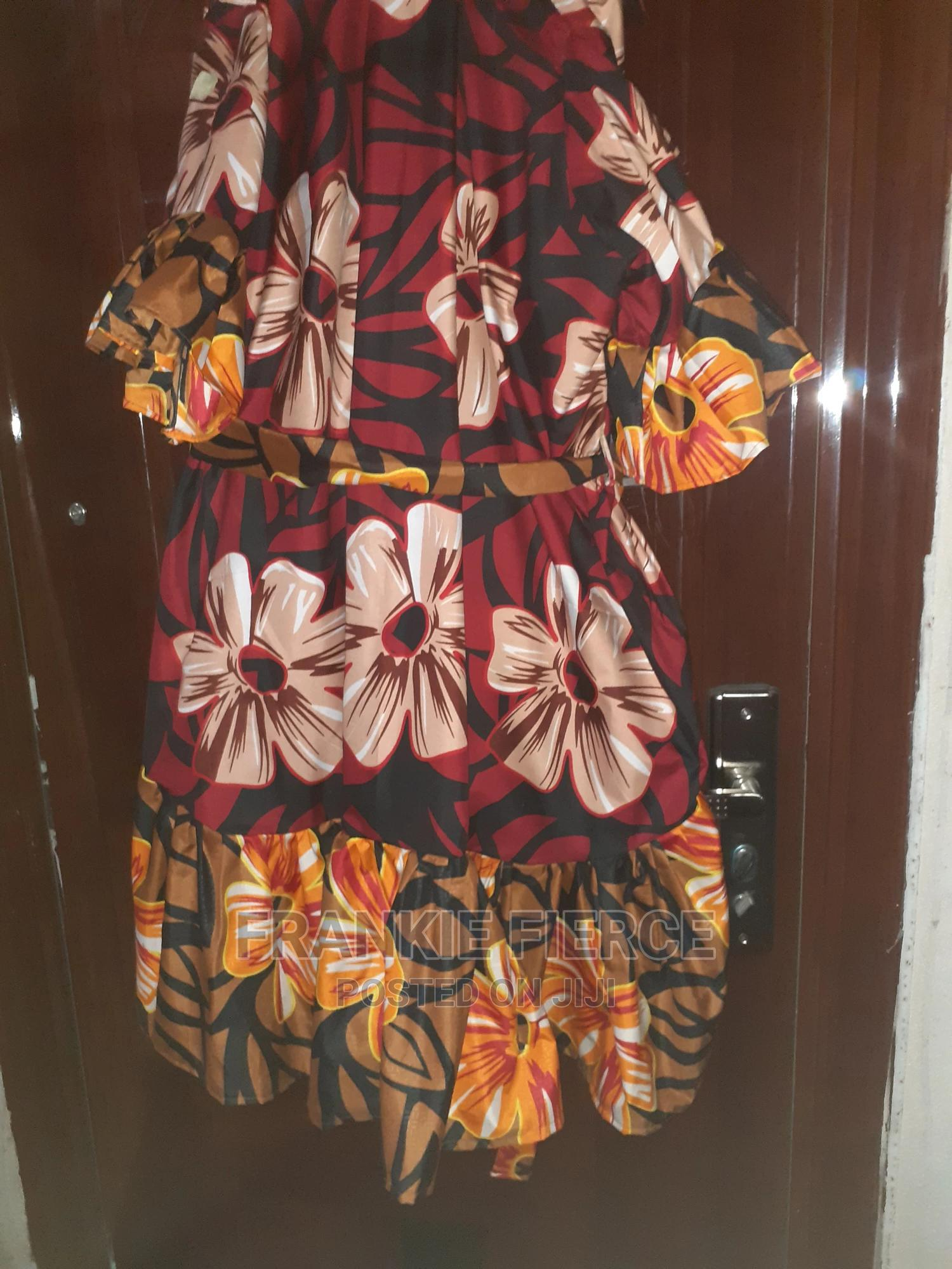 Archive: Red and Brown Floral Ankara! Size Free*