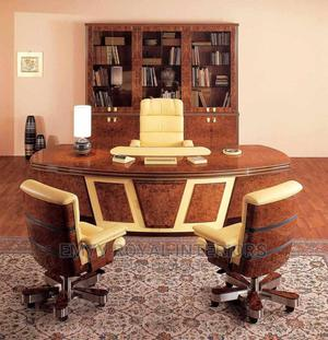 Quality Executive Office Table, Chair N Bookshelf   Furniture for sale in Abuja (FCT) State, Central Business District