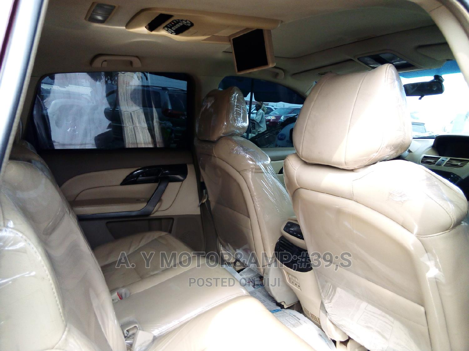 Acura MDX 2008 SUV 4dr AWD (3.7 6cyl 5A) Red   Cars for sale in Apapa, Lagos State, Nigeria