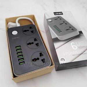 LDNIO SC3604 Extension Box - 3 Sockets + 6 USB Charging Port | Accessories for Mobile Phones & Tablets for sale in Lagos State, Ikeja