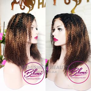 Curly Ombre Human Hair Closure Wig in 16 Inches | Hair Beauty for sale in Lagos State, Yaba