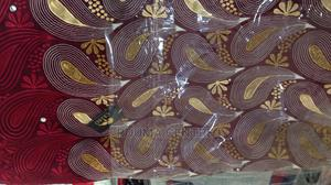 Burgundy Celbo Swiss Lace 5 Yards | Clothing for sale in Abuja (FCT) State, Wuse 2