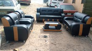 Set of 7 Seaters Sofa Chairs With Table. Leather Couches | Furniture for sale in Lagos State, Ikeja