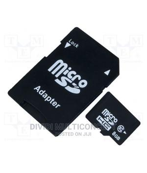 8GB Memory Card With Adapter   Accessories for Mobile Phones & Tablets for sale in Lagos State, Agege