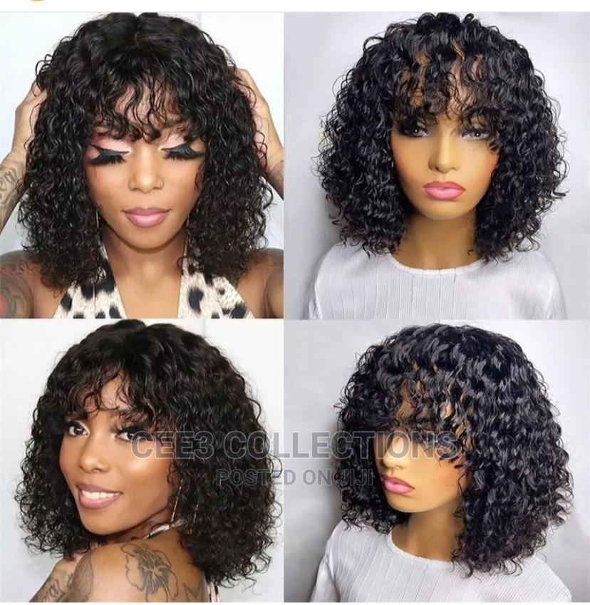 100% Human Hair Fringe Curly