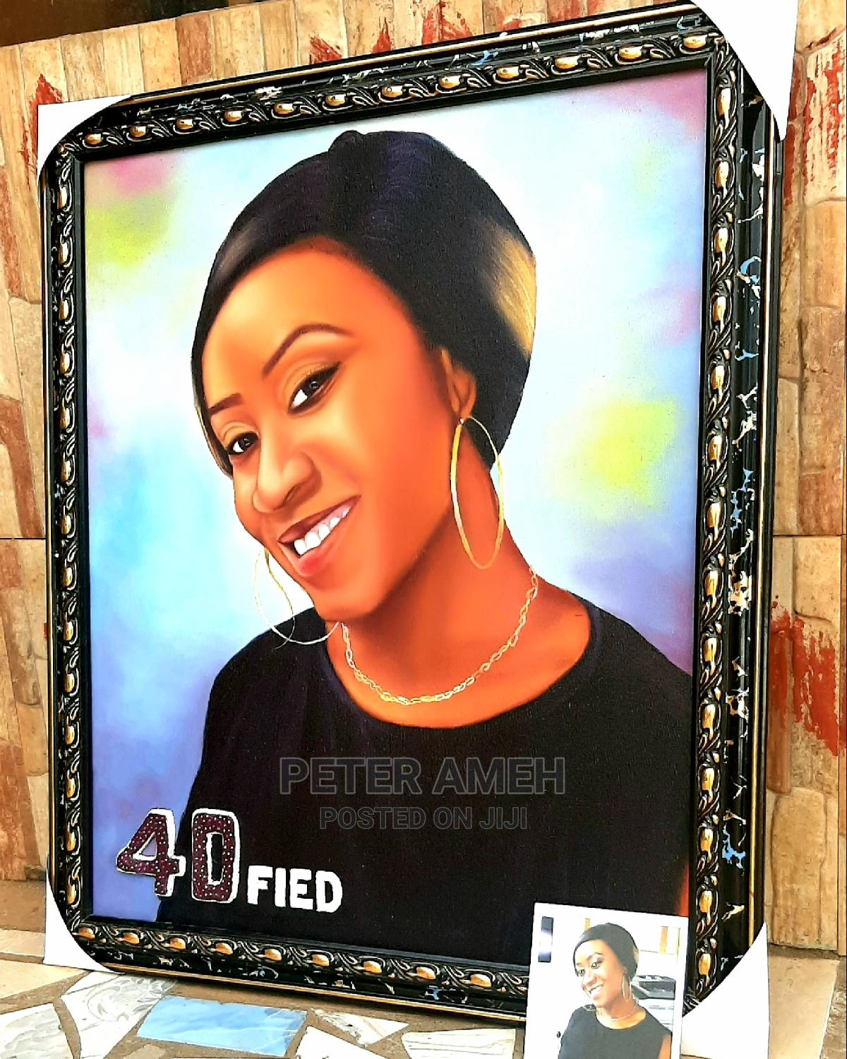 Portrait Painting, Drawing, Artwork, Oil on Canvas, Sketch,   Arts & Crafts for sale in Alimosho, Lagos State, Nigeria