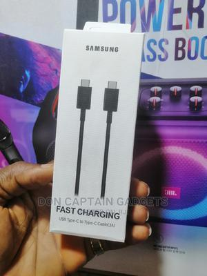 Samsung Type-C to Type-C Cable 3A   Accessories for Mobile Phones & Tablets for sale in Lagos State, Ikeja