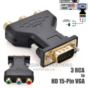 AV to VGA and VGA to AV Converter Plug | Accessories & Supplies for Electronics for sale in Lagos State, Yaba