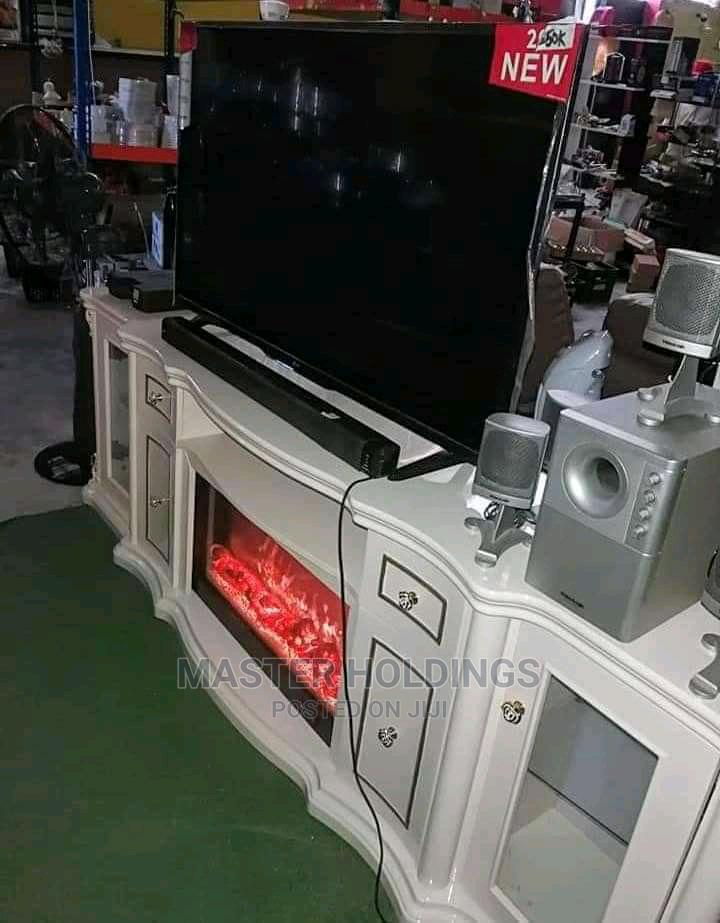 Classic Luxury TV Stand With Fireplace