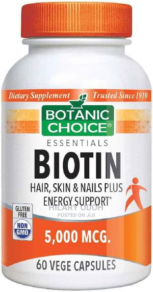 Botanic Choice Biotin 5000 Mcg   Vitamins & Supplements for sale in Lagos State, Ojo