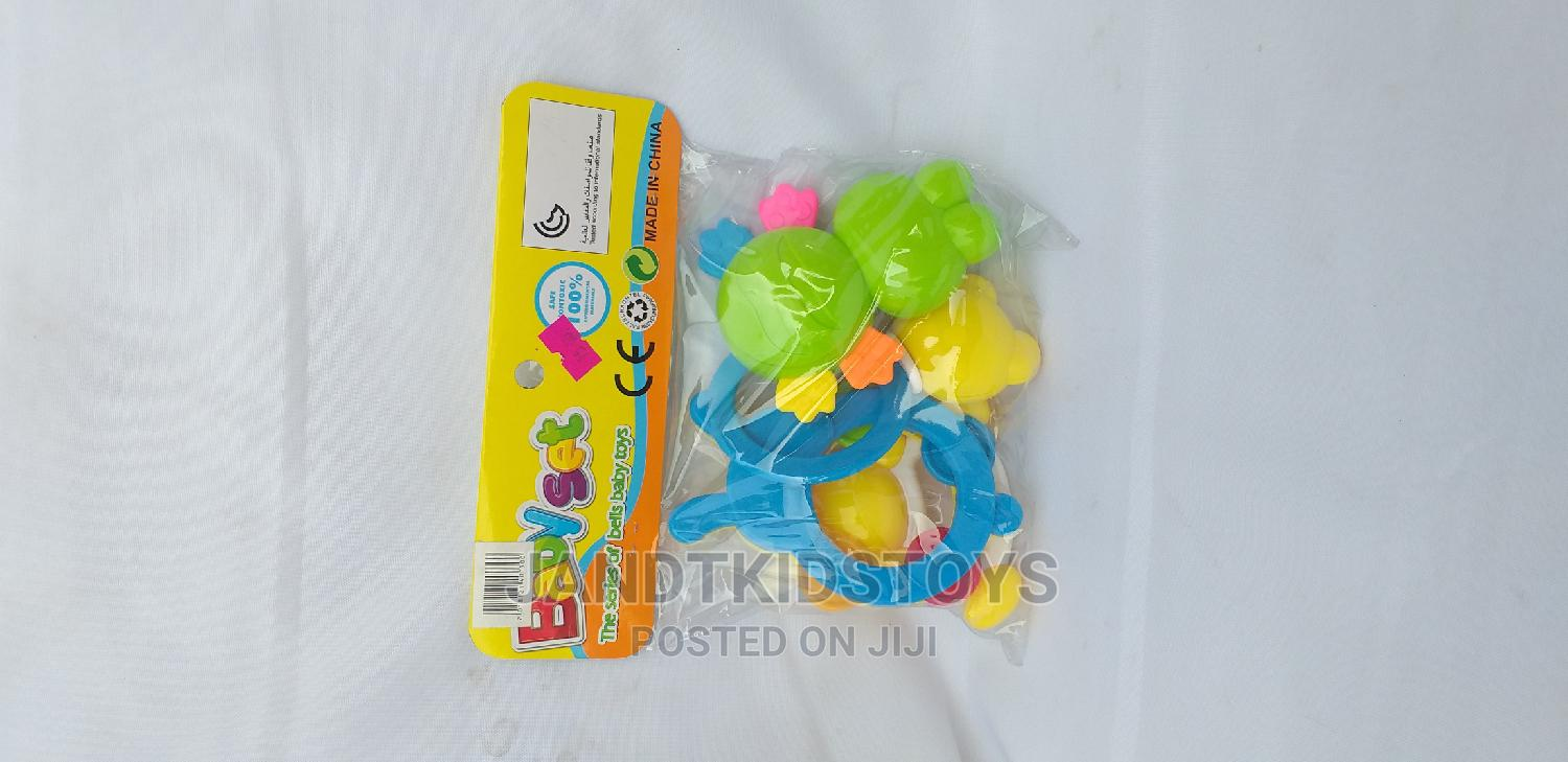 4 Piece Baby Rattle