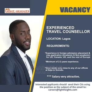 Experienced Travel Counsellor wanted | Travel & Tourism Jobs for sale in Lagos State, Ikeja