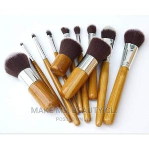 Bamboo Make Up Brush Set (11 Pieces Set)   Makeup for sale in Lagos State, Ojo