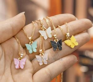 Butterfly Necklace and Real Double Layered Necklace   Jewelry for sale in Lagos State, Surulere