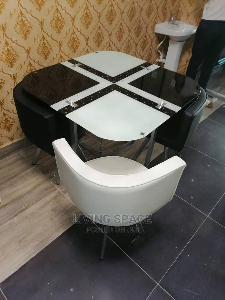Glass Top Dinning Table With 4 Chairs