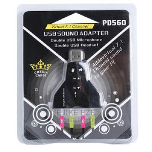 External Usb Sound Card Adapter Double   Computer Accessories  for sale in Lagos State, Ikeja