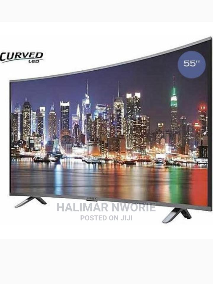 Polystar 55′′Inches -Curved UHD Android Smart 4K 2021 Model
