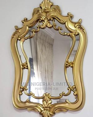 Wall Shapeless Design Mirror Gold   Home Accessories for sale in Lagos State, Surulere