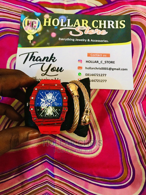 Men's Fashion Wristwatch With Bracelet   Watches for sale in Ado-Odo/Ota, Ogun State, Nigeria
