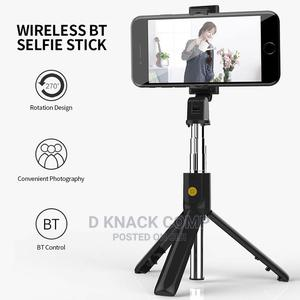 Selfie Stick Integrated Tripod BT 4.0 Wireless Selfie Stick   Accessories for Mobile Phones & Tablets for sale in Lagos State, Ikorodu