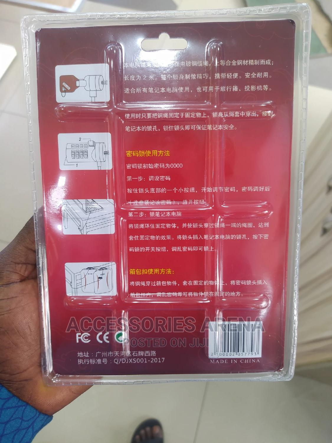 Notebook Cable Lock (2 Metres) | Computer Accessories  for sale in Ikeja, Lagos State, Nigeria