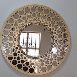 Wall Decor Circle Mirror Gold   Home Accessories for sale in Lagos State, Ikeja