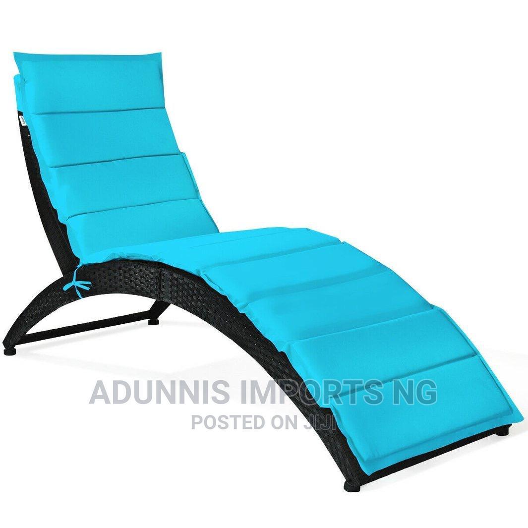 Archive: Folding Patio Rattan Portable Lounge Chair Chaise