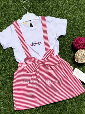 2pcs Detachable Girl Dungarees Skirt   Children's Clothing for sale in Lagos State, Alimosho