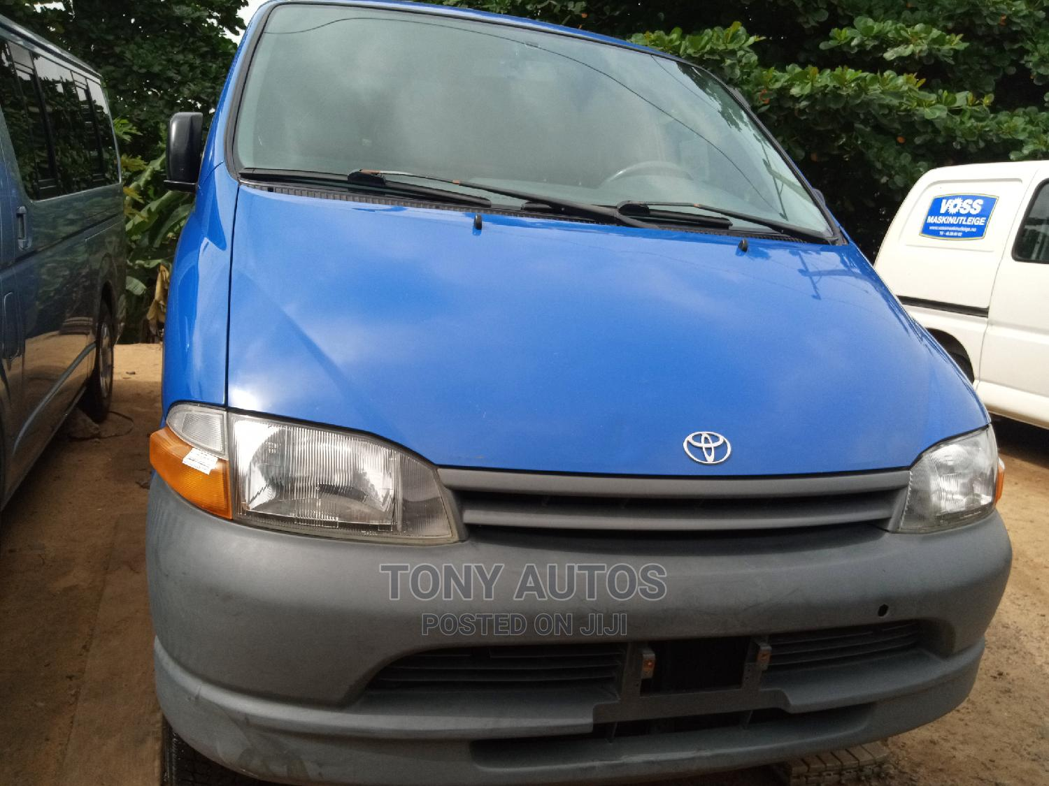 Blue Toyota Hiace Container Body