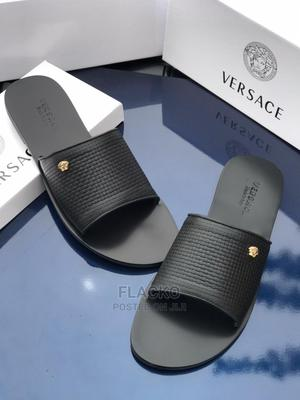 Original Versace Black Leather Slippers Available | Shoes for sale in Lagos State, Surulere
