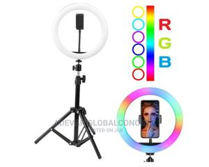 14 Inches RGB Ringlight, Remote, Phone Holder, Tripod Stand   Accessories & Supplies for Electronics for sale in Lagos State, Ikeja