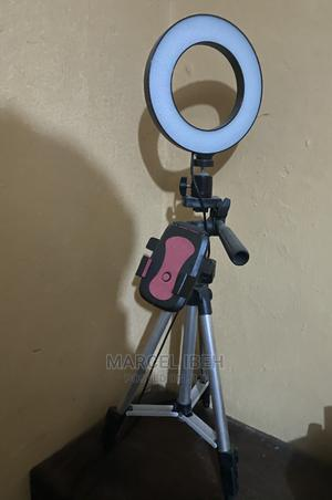 8inches LED Selfie Ring Light With Desktop Stand | Stage Lighting & Effects for sale in Edo State, Benin City