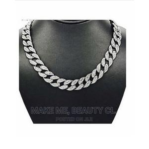 Iced Out Cuban Link Choker Chain Silver | Jewelry for sale in Lagos State, Ojo