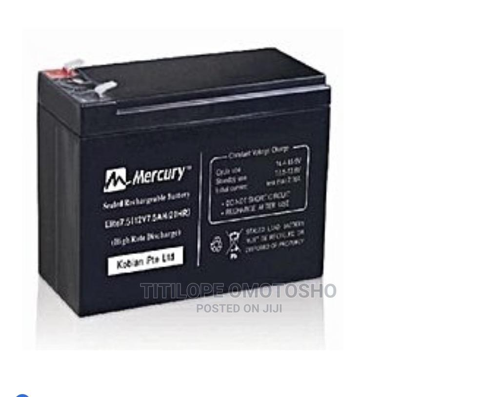 Archive: Mercury Elite UPS 12V 7.5 AH Battery